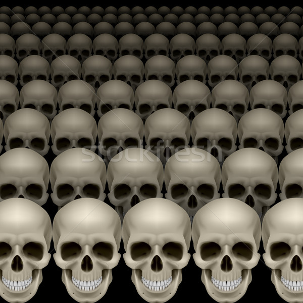 Rows of skulls Stock photo © dvarg