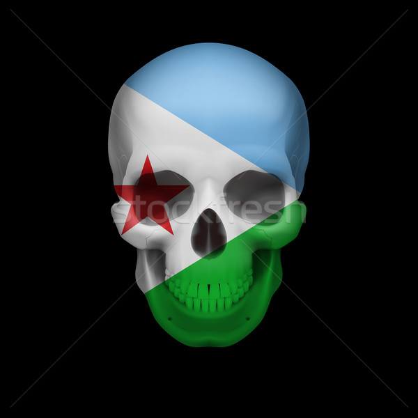 Djiboutian flag skull Stock photo © dvarg