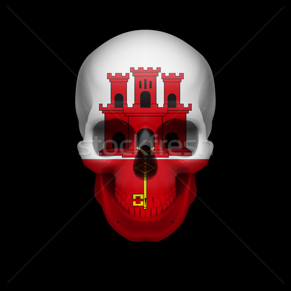 Gibraltar flag skull Stock photo © dvarg