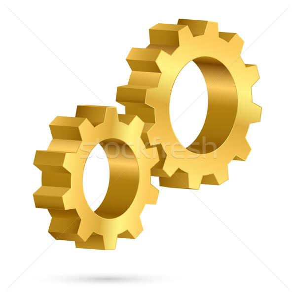 Golden gearwheel  Stock photo © dvarg