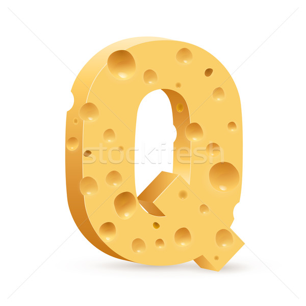 Stock photo: Letter made of Cheese
