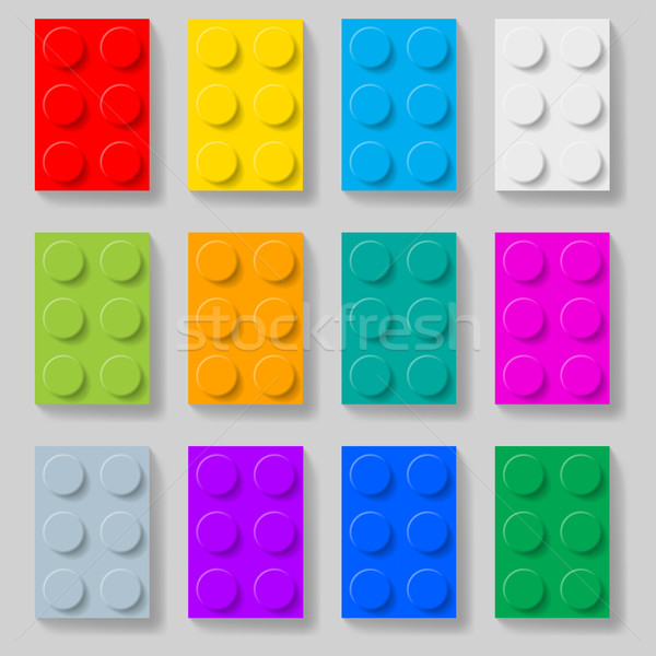 Plastic construction kit blocks. Stock photo © dvarg