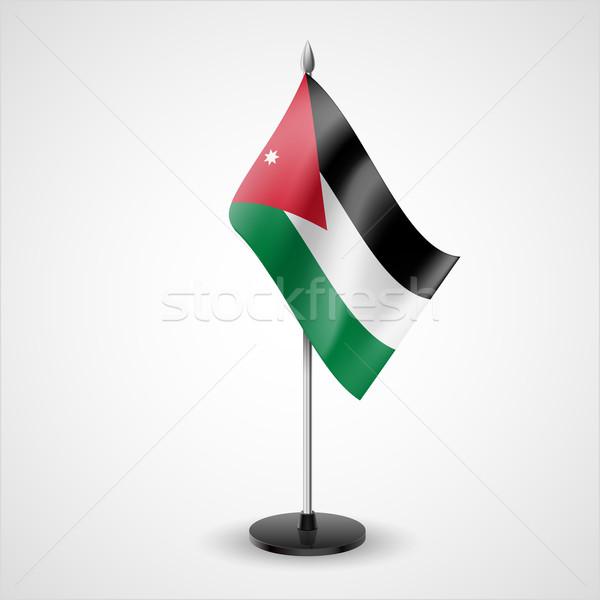 Tabeli banderą Jordania świat konferencji biurko Zdjęcia stock © dvarg