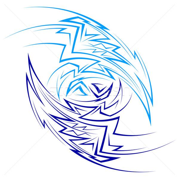 抽象的な パターン シャープ 行 2 ストックフォト © dvarg