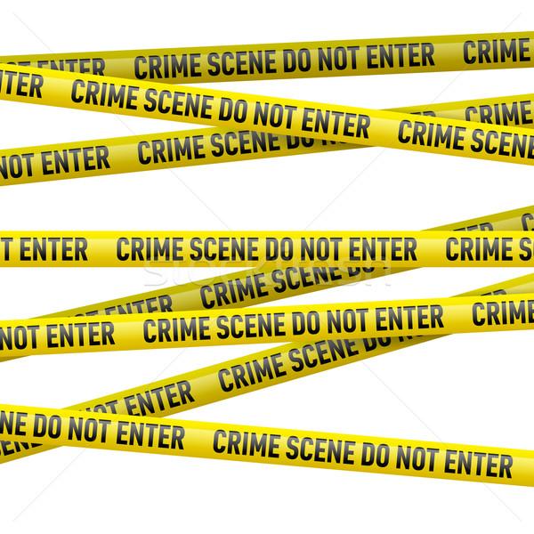 警察 危険 テープ 現実的な 黄色 犯罪現場 ストックフォト © dvarg