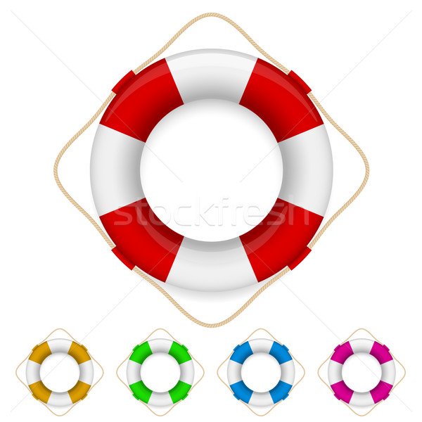 Set of life buoys  Stock photo © dvarg