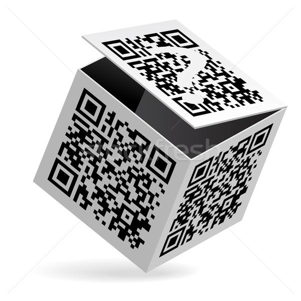 Qrコード ボックス 実例 オープン 白 工場 ストックフォト © dvarg