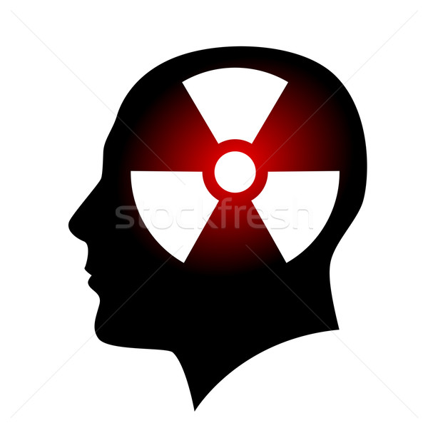 Human face with radiation sign Stock photo © dvarg