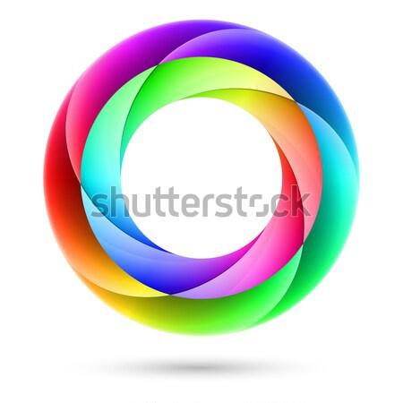 Színes spirál gyűrű illusztráció fehér absztrakt Stock fotó © dvarg