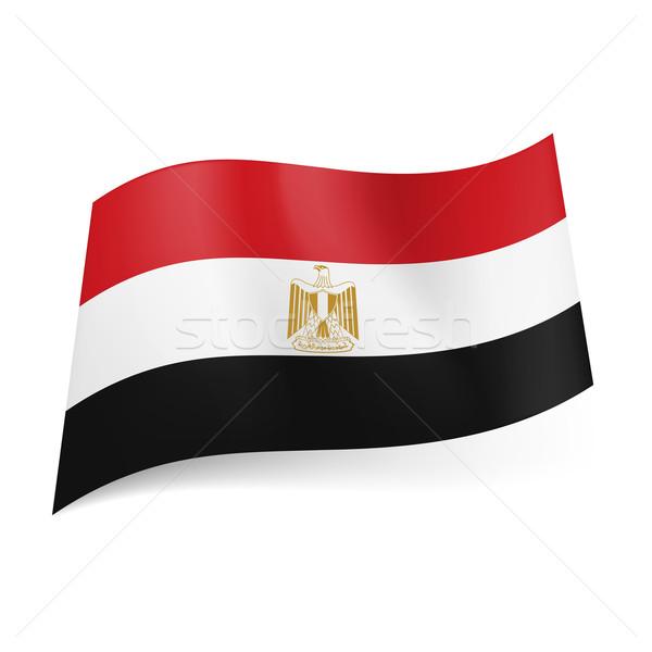 Banderą Egipt czerwony biały czarny poziomy Zdjęcia stock © dvarg