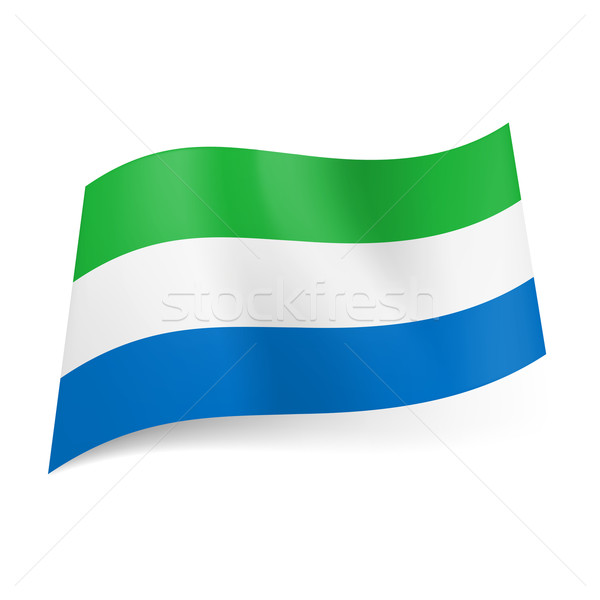 State flag of Sierra Leone. Stock photo © dvarg