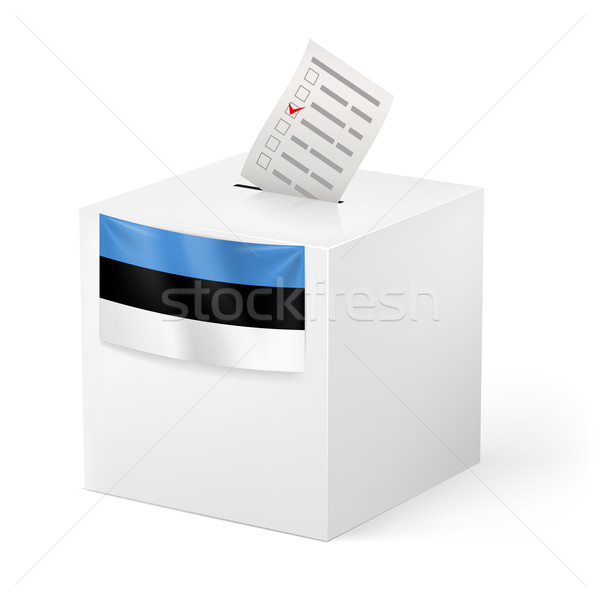 Ballot box with voting paper. Estonia Stock photo © dvarg