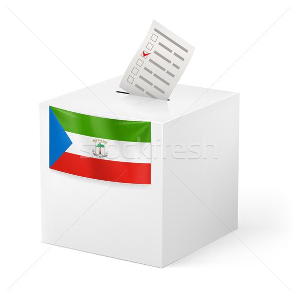 Cédula caixa votação papel Guiné Equatorial eleição Foto stock © dvarg