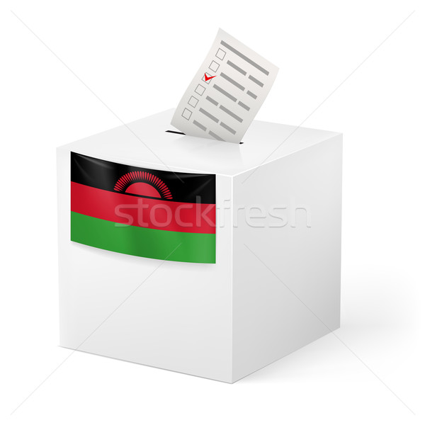 Ballot box with voting paper. Malawi Stock photo © dvarg