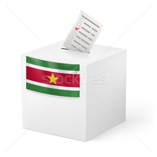 голосование окна голосование бумаги Суринам выборы Сток-фото © dvarg