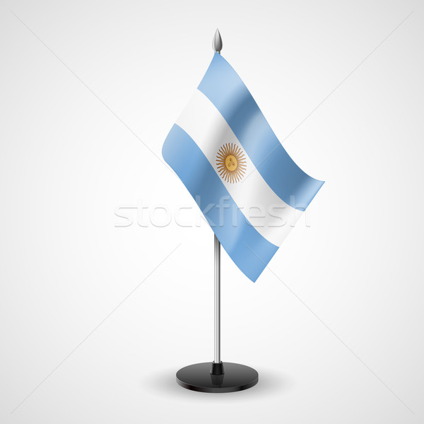Tabela bandeira Argentina mundo conferência secretária Foto stock © dvarg