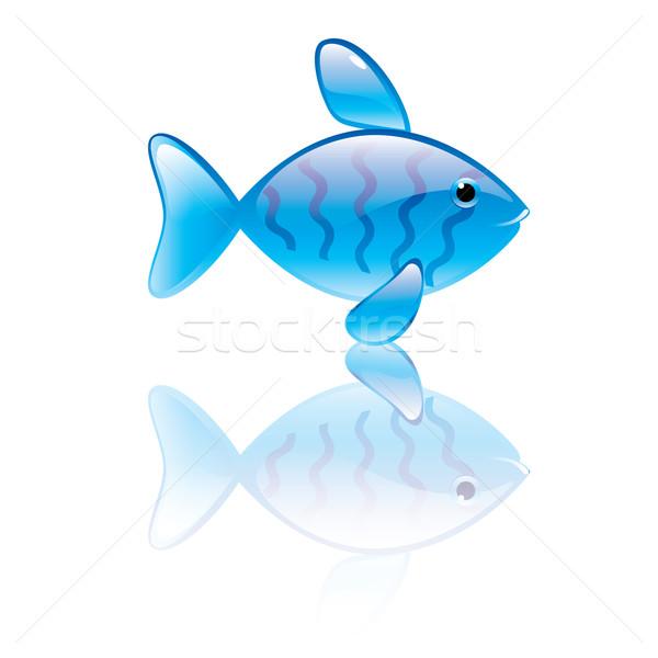 Hal szimbólum kék átlátszó terv otthon Stock fotó © dvarg