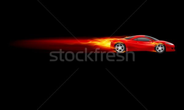 Foto stock: Esportes · quente · carro · vermelho · projeto