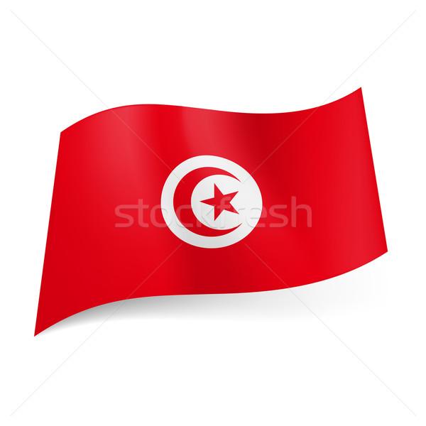State flag of Tunisia.  Stock photo © dvarg