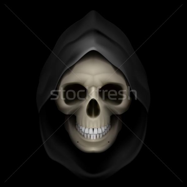śmierci obraz czaszki czarny martwych Zdjęcia stock © dvarg