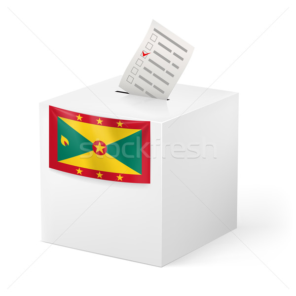 Ballot box with voting paper. Grenada Stock photo © dvarg