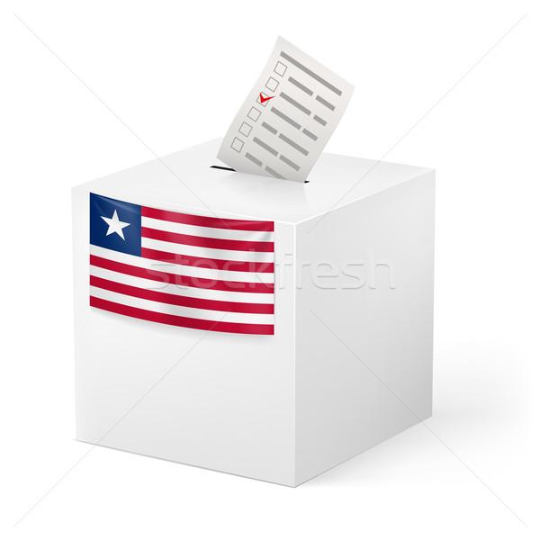 Oylama kutu kâğıt Liberya seçim Stok fotoğraf © dvarg
