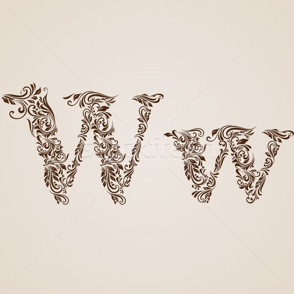 Decorated letter w Stock photo © dvarg