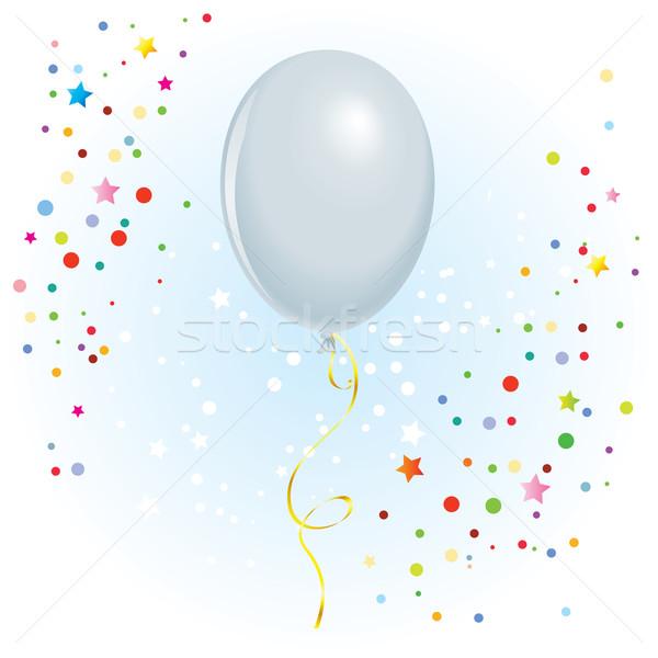 Ballon gekruld lint witte vector formaat Stockfoto © dvarg