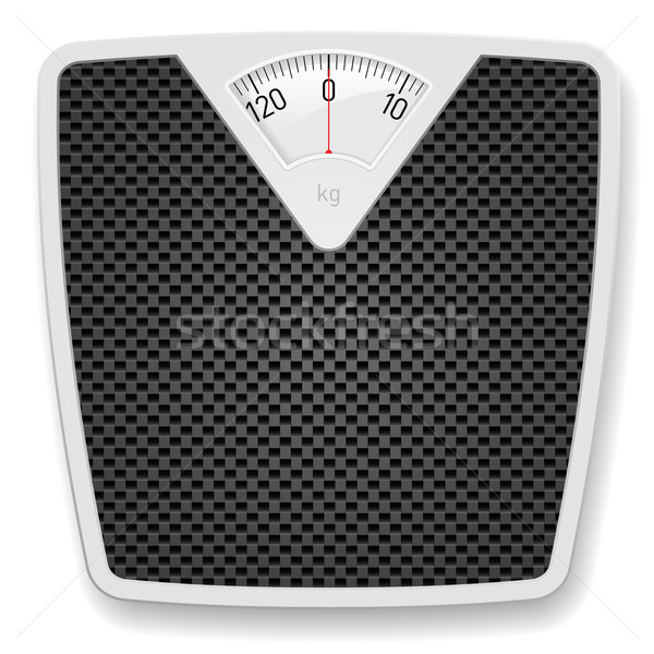 Badkamer gewicht schaal illustratie witte Stockfoto © dvarg