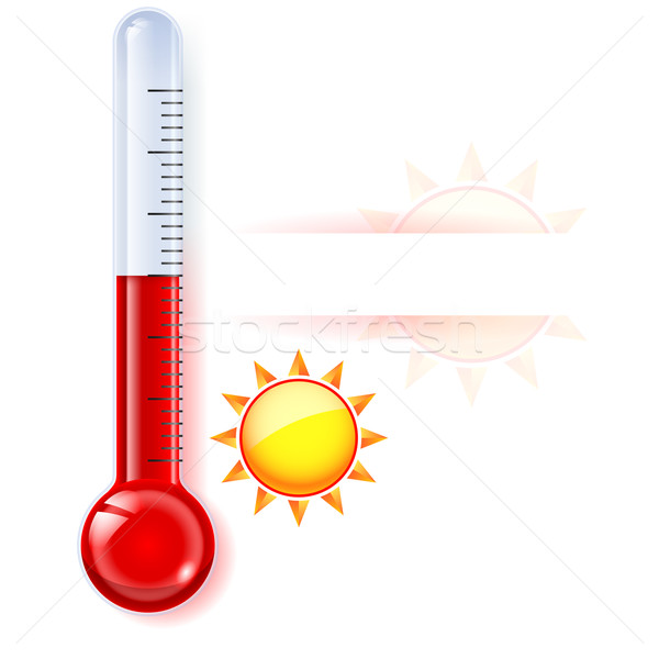 Thermometer by seasons Stock photo © dvarg