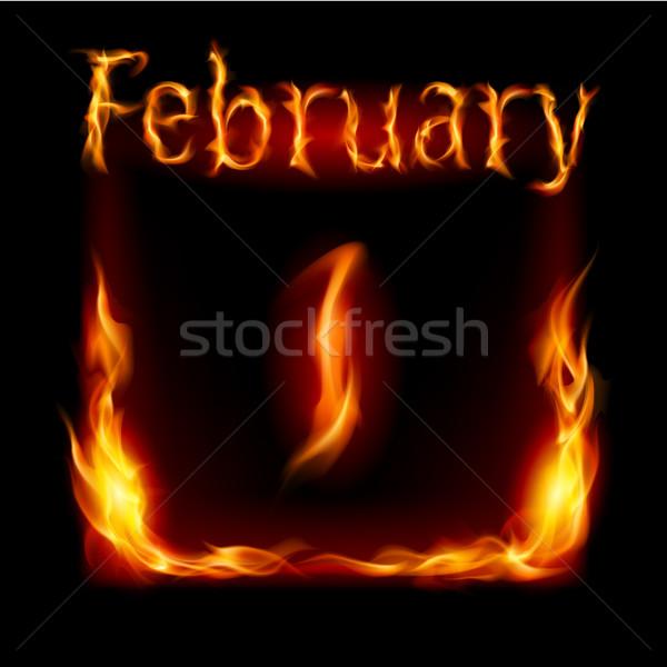 Stock photo: Calendar of Fire