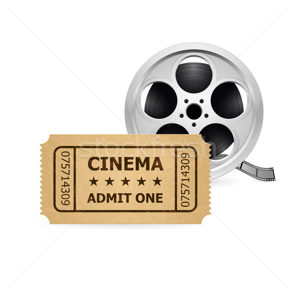 Retro cinema ticket and Babin Stock photo © dvarg