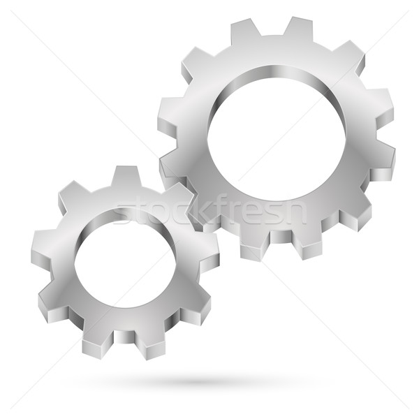 Chrome gearwheel  Stock photo © dvarg