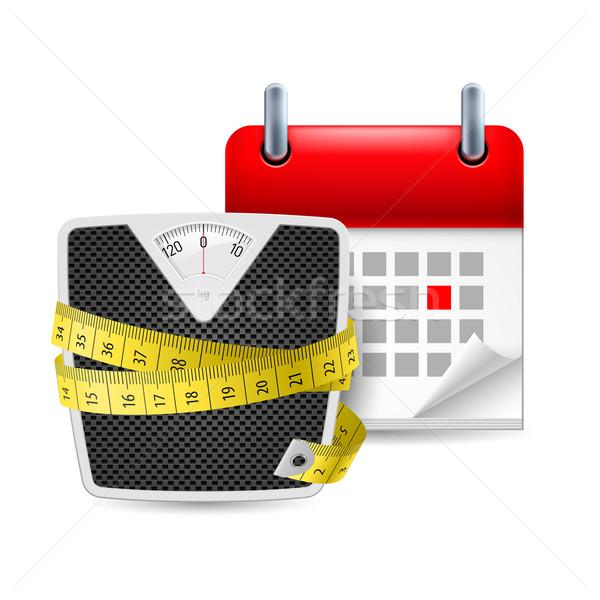 Diet time icon Stock photo © dvarg