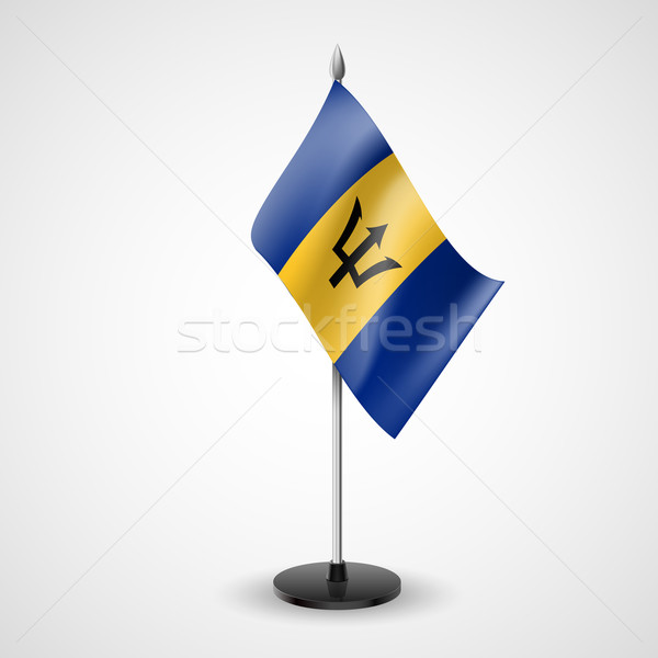 Table flag of Barbados Stock photo © dvarg