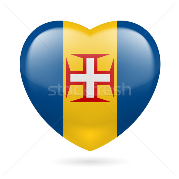 Kalp ikon madeira sevmek bayrak renkler Stok fotoğraf © dvarg