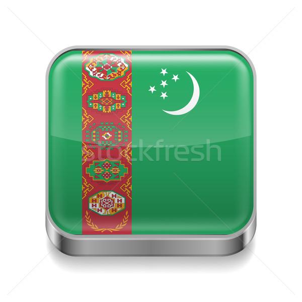 Metal  icon of Turkmenistan Stock photo © dvarg