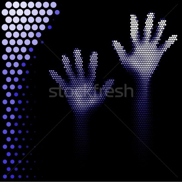 Medios tonos manos silueta estilo blanco mano Foto stock © dvarg