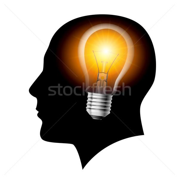 Creative ideas light bulb concept  Stock photo © dvarg