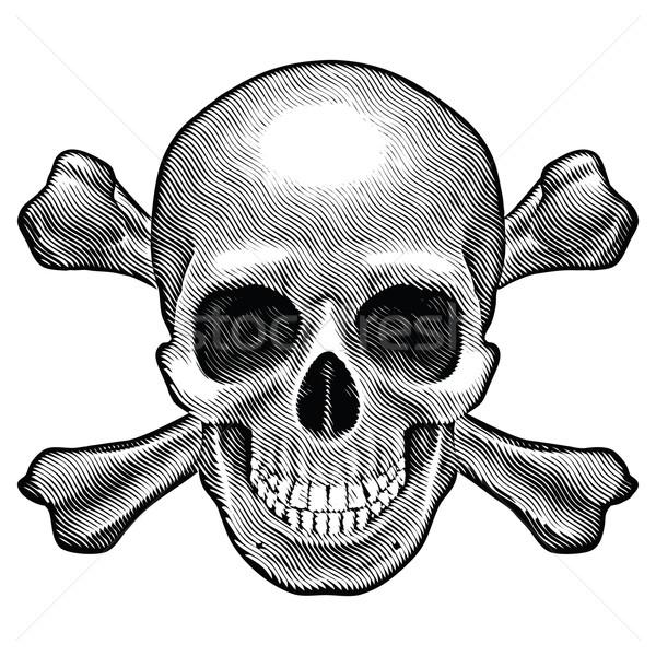 Skull and crossbones figure Stock photo © dvarg