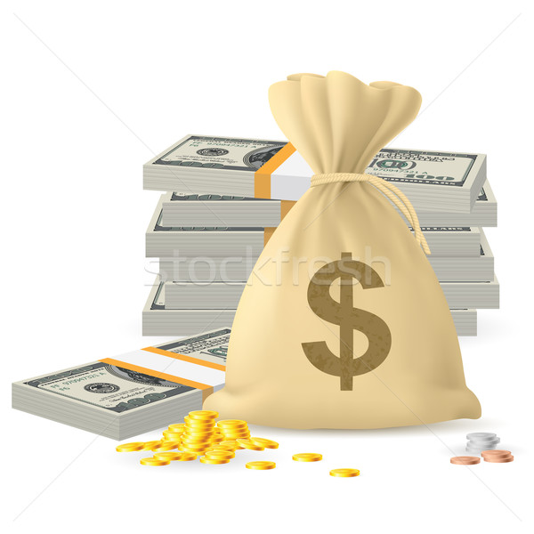 Piles of money Stock photo © dvarg