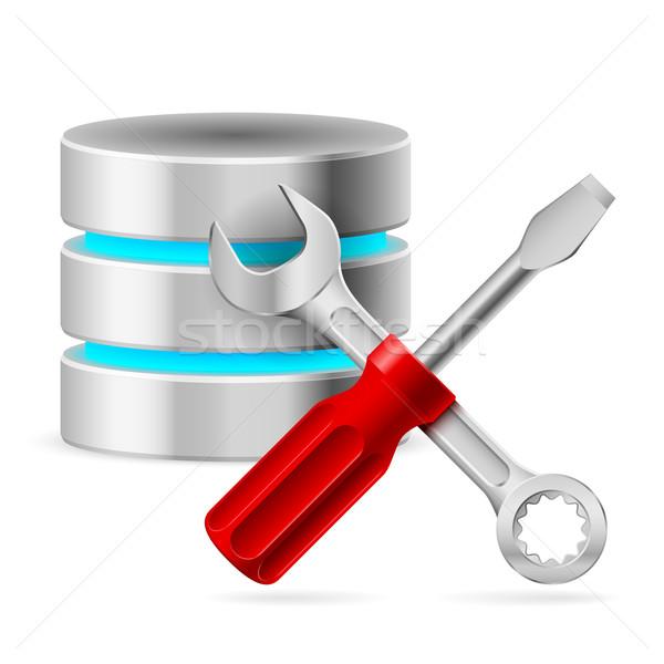 データベース アイコン ツール 実例 白 ビジネス ストックフォト © dvarg