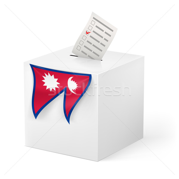 Ballot box with voicing paper. Nepal Stock photo © dvarg
