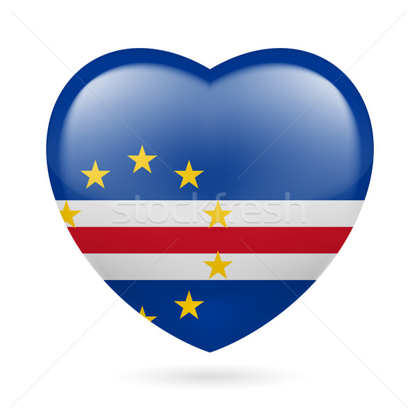 Heart icon of Cape Verde Stock photo © dvarg