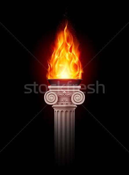 Column with fire Stock photo © dvarg