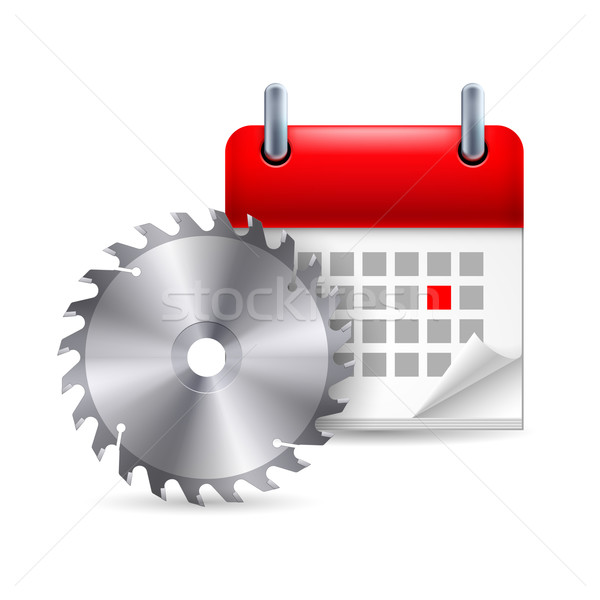 Circular saw and calendar Stock photo © dvarg