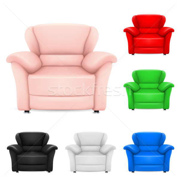 Colored set of stylish chairs Stock photo © dvarg