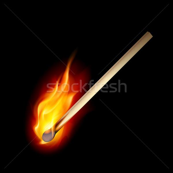 Сток-фото: сжигание · матча · черный · дизайна · огня · древесины