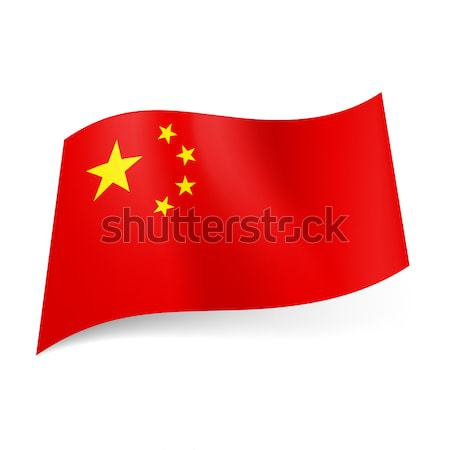 State flag of China. Stock photo © dvarg