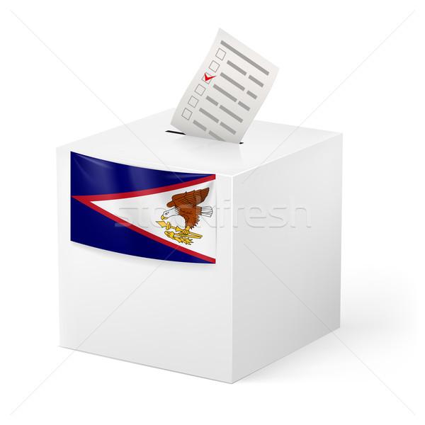 Cédula caixa votação papel Samoa Americana eleição Foto stock © dvarg